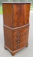 Bowfront Mahogany Cupboard on Chest